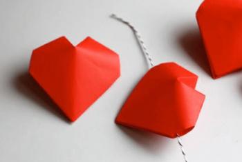 かわいい折り紙のハート-350x235